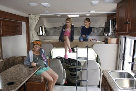 Motorhome trip with a child